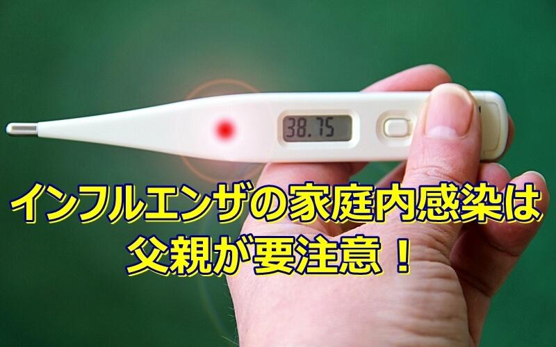 インフルエンザの家庭内感染は父親が要注意!感染への意識が必要